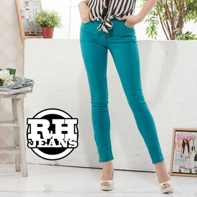 【RH】馬卡龍超顯瘦彈性長褲(繽紛彩色牛仔褲...剩貨不多)