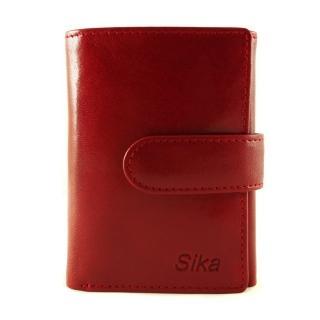 【Sika】義大利時尚真皮三折小皮夾A8280-04(魅惑紅)