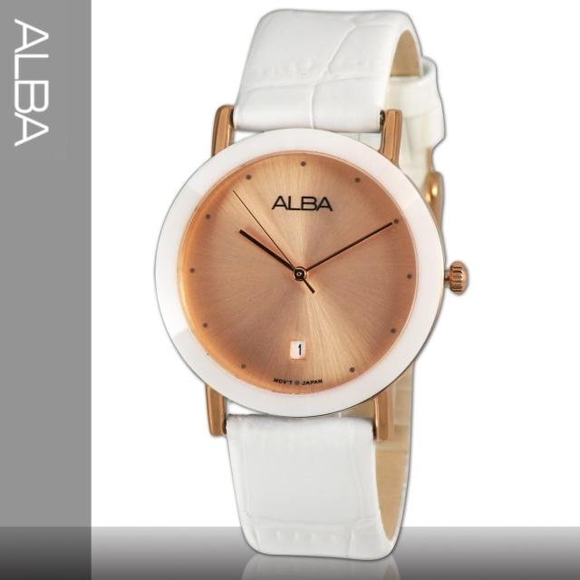【SEIKO 精工 ALBA】典雅玫瑰金氣質女錶(AG8342X1)