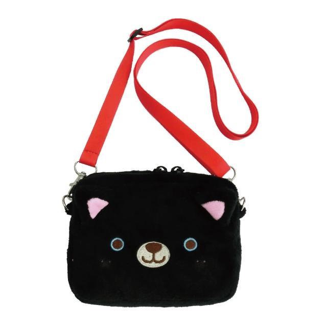 【UNIQUE】動物樂園側背收納袋(小黑貓)