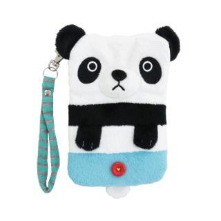 【UNIQUE】動物樂園毛絨手機提袋(圓仔)