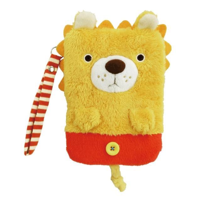 【UNIQUE】動物樂園毛絨手機提袋(小獅子)