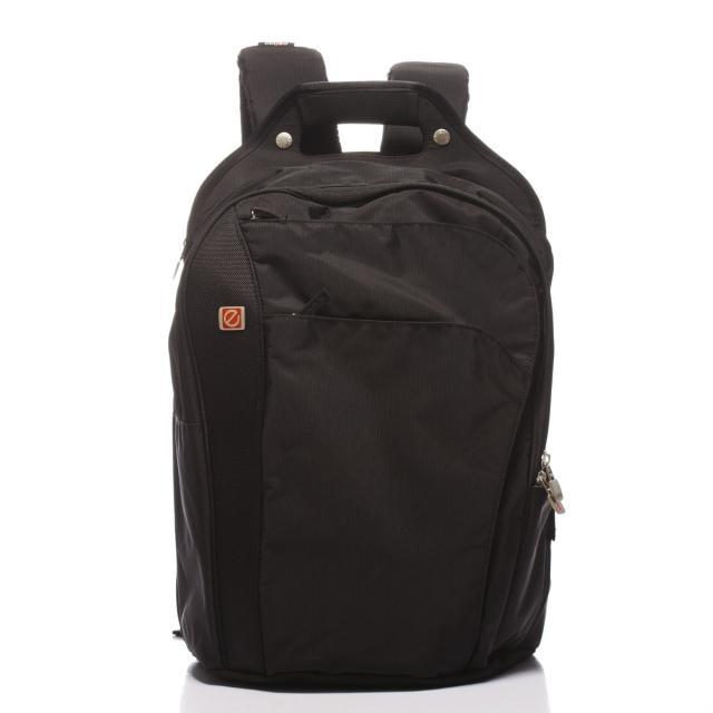 【eeBag】旅行休閒全能護腰透氣17吋電腦包(黑)
