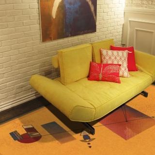 【范登伯格】拉古那★抽象個性風地毯-律動橘(160x230cm)