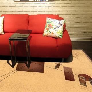 【范登伯格】拉古那★抽象個性風地毯-律動米(160x230cm)