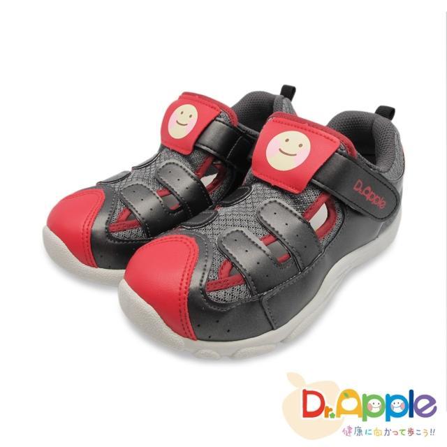 【Dr. Apple 機能童鞋】蘋果醫生微笑涼鞋(黑)