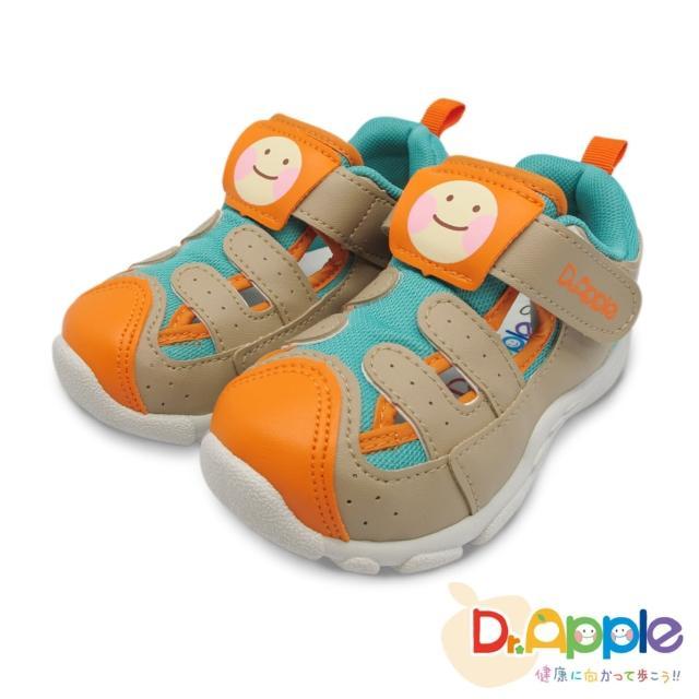 【Dr. Apple 機能童鞋】蘋果醫生微笑涼鞋(卡其)