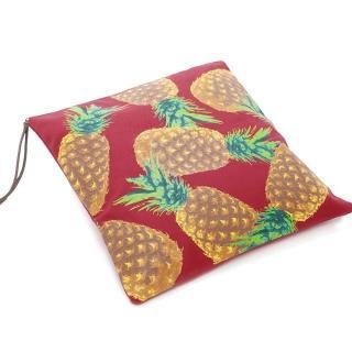 【Kitson】南洋風印花帆布手拿包(紅)