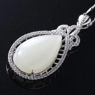 金玉滿堂典雅臻品和闐羊脂白玉珠寶套組(M)
