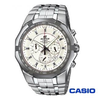 【CASIO卡西歐】EDIFICE系列極限三眼計時賽車錶(EF-540D-7A)