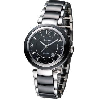 Diadem 黛亞登 都會女伶陶瓷腕錶 - 黑/35mm (8D1407-511D-D)