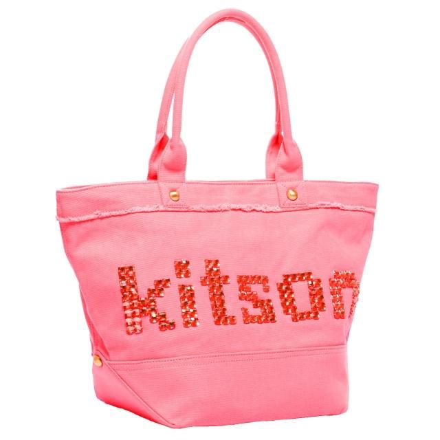 【Kitson】晶透串珠托特包(PINK)