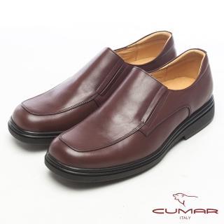 【CUMAR】都會型男‧萬年不敗款牛皮氣墊鞋(咖啡)