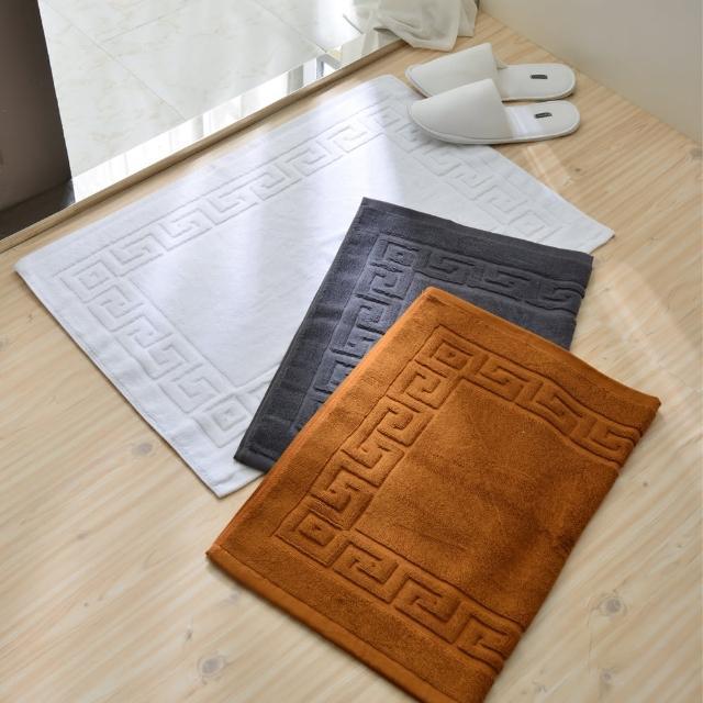 【五星級飯店專用】純棉毛巾料腳踏墊(2入)