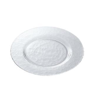 【ADERIA】日本進口Biscuit系列玻璃淺型餐盤28cm