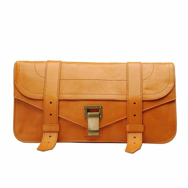 【Proenza Schouler】POCHETTE LUX山羊皮手拿包(番紅花橘H00001-2030)