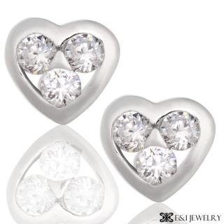 【E&I】-愛的渴望-八心八箭鋯鑽耳環