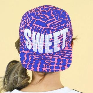 【Lady c.c.】都市流行時代搶眼棒球帽(桃底藍斑)
