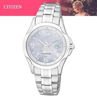 【CITIZEN 星辰】氣質優雅珍珠母貝錶面光動能女錶 EW1780-51A
