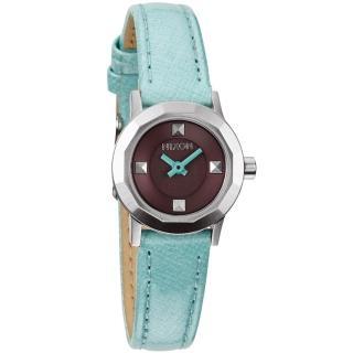 【NIXON】MINI B多角切割華麗時尚腕錶-水藍(A338302)