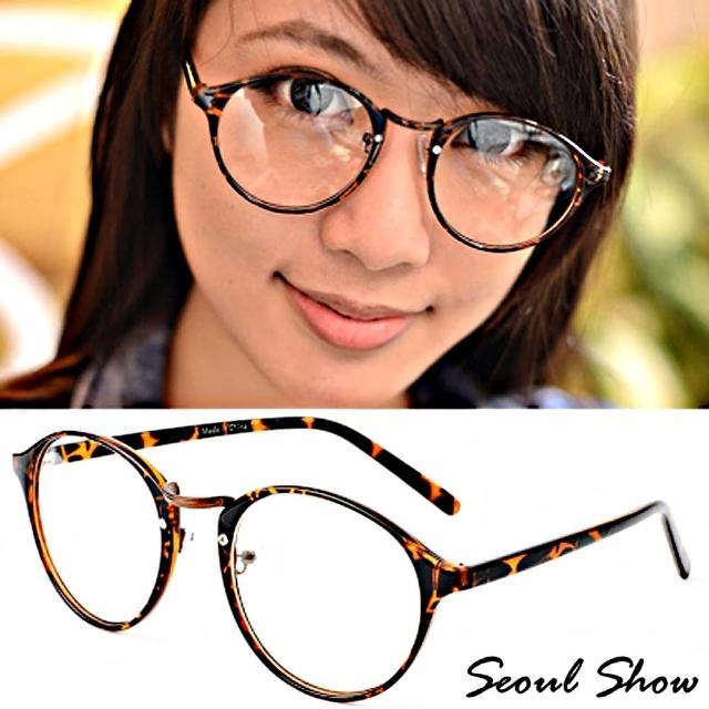 【Seoul Show】極致簡約 平光眼鏡(2032 豹紋)
