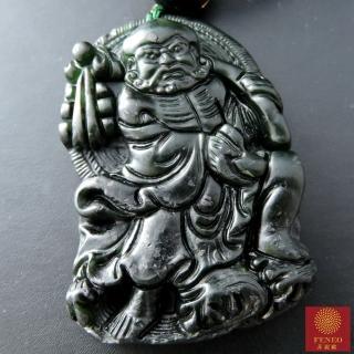 【菲鈮歐】達摩祖師頂級墨玉項鍊
