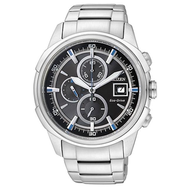 【CITIZEN】傳奇武士三眼計時腕錶(CA0370-54E)