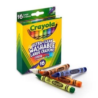 【美國crayola繪兒樂】可水洗16色大蠟筆