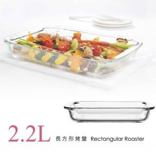 【SYG台玻】耐熱玻璃長方形烤盤(2.2L)