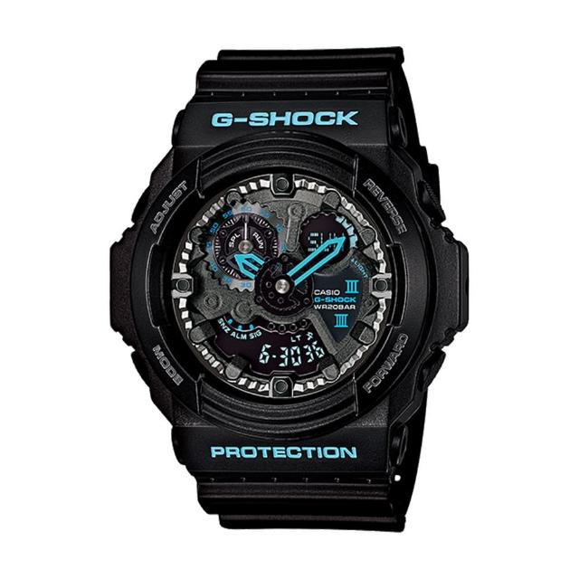 【CASIO 卡西歐 G-SHOCK 系列】粗獷耐衝擊構造機械風格(GA-300BA)