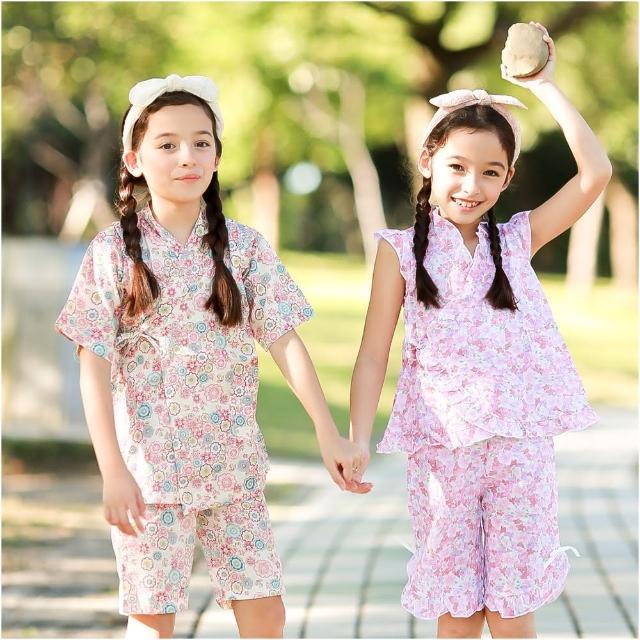 【baby童衣】女童和服 夏日短袖套裝 42188(共二色)