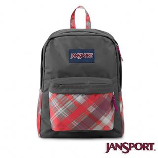 【Jansport】25L 簡單休閒後背包(蘇格蘭紋)