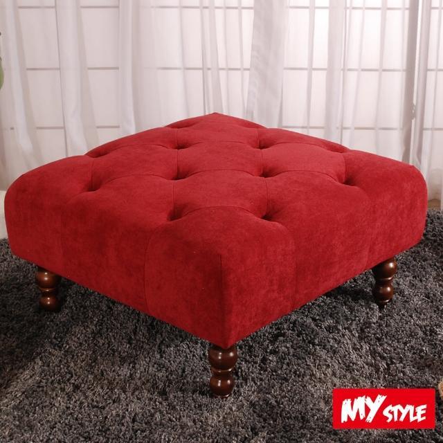 【My Style】時尚奢華細絨沙發方椅