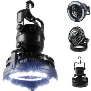 【PUSH! 戶外登山休閒用品】露營桌上車內2用led露營燈電扇