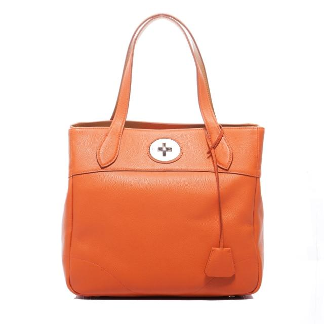 【A.D.M.J.】小牛皮BOX CALF VERA - TOTE-30(ORANGE)