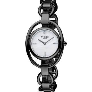 【VOGUE】Tornabuoni 手鍊錶-天然珍珠貝xIP黑/30mm(2V1407-141D-M)