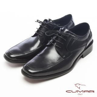 【CUMAR】自信品味-專業形象牛皮皮鞋(黑)