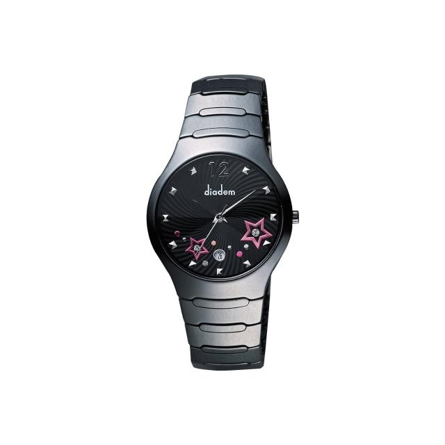 【Diadem】黛亞登 浪漫星空陶瓷腕錶-黑/38mm(9D1407-541DD-D)