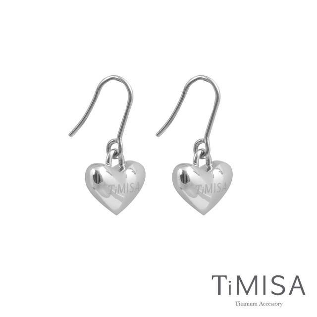 【TiMISA】鈦真心 純鈦耳勾(一對)
