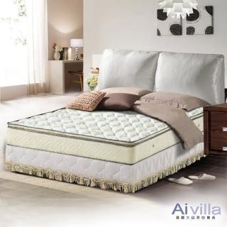 【Ai-villa】正三線立體加厚緹花布獨立筒床墊(雙人)