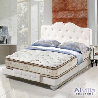 【Ai-villa】六星級舒柔布正四線雙面膠獨立筒床墊(雙人)