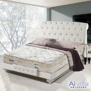 【Ai-villa】六星級舒柔布記憶膠三線獨立筒床墊(雙人)