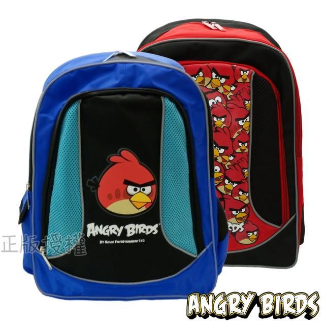 【Angry Birds憤怒鳥】反光護背三層後背書包(三款)