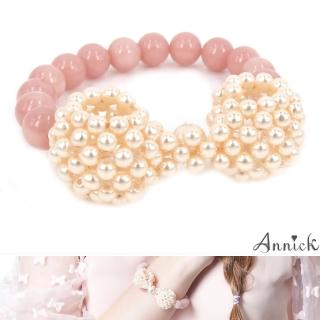 【Annick】Annabelle珍珠蝴蝶結手環(真珠粉)