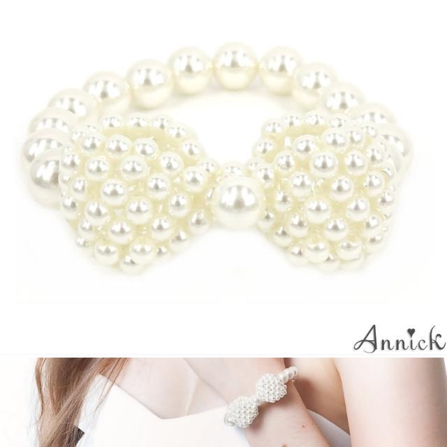 【Annick】Annabelle珍珠蝴蝶結手環(真珠白)