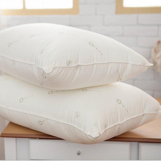 【Lust 生活寢具 台灣製造】《四孔抗菌棉枕》日本大和防蠻抗菌棉台灣製造兩顆裝正4孔棉(米白色)