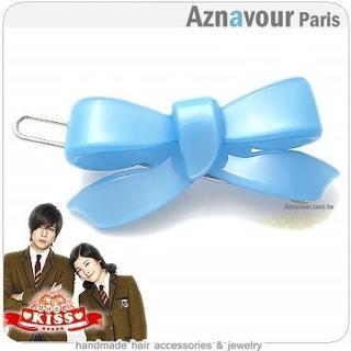 ~Aznavour~韓劇惡作劇之吻˙小蝴蝶結髮夾 水藍