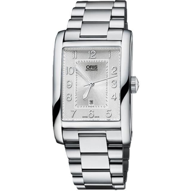 【ORIS】Rectangular 藝術時尚家機械腕錶-銀(0156176934061-0782220)