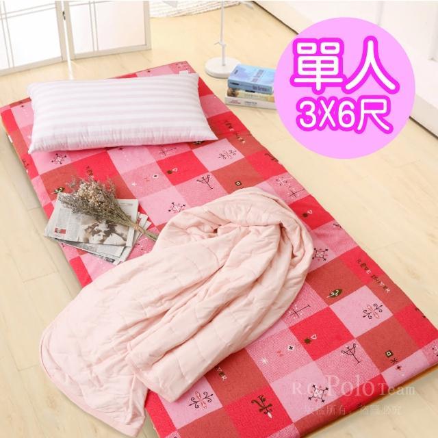 【R.Q.POLO】大青竹軟式三折式冬夏兩用床墊(單人3X6尺)/