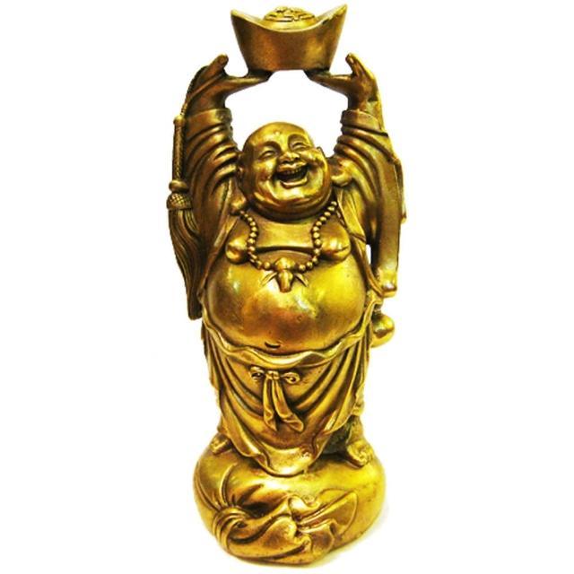 【開運陶源】元寶頂天彌勒佛 財神 銅雕(可化樑煞)